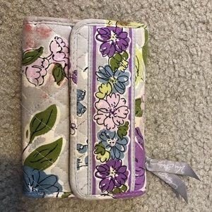 Purple vera Bradley trifold wallet